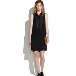 Madewell Shirtfront Sleeveless Shift Dress Black